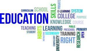 word cloud - education